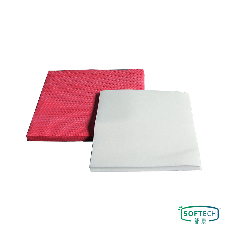 Disposable Oil Absorbent Wood Pulp PP Fabric Workshop Multi-Purpose Nonwoven Cleaning Wipes