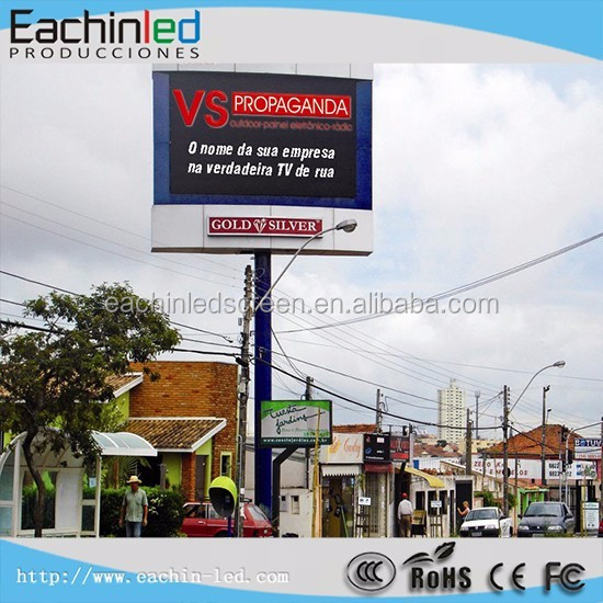 Eachinled Big advertising display p6 p8 p10 p16 outdoor fixed led video wall/led sign/led billboard