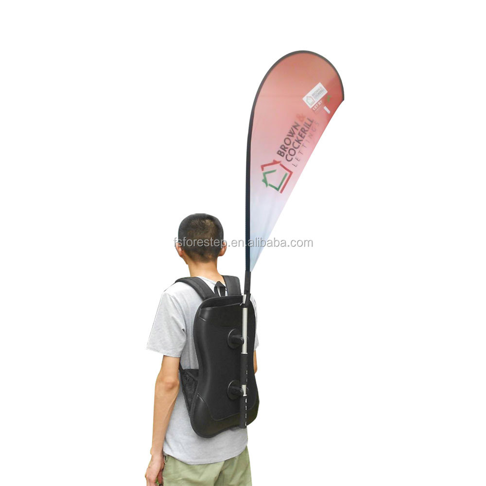f321f5325eb Custom Backpack Flying X Banner Promotion Backpack Flag Banner ...