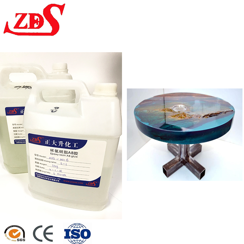 clear epoxy resin glue/paint for table /countertops/jewelry epoxy resin and hardener