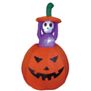 120cm Halloween inflatable pumpkin with animated ghost
