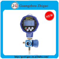 Single Digital Low Vacuum Pressure Gauge With Valve WK-6881L