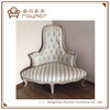 New Design Rustic French Style Button Tufted Wooden corner Chair