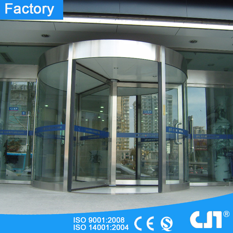 Stainless Steel 3 Wings Hotel Automatic Revolving Door Factory Price
