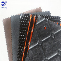 Luxury car upholstery leather, upholstery leather PVC leather affordable