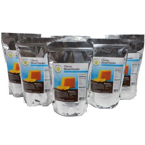Legacy Essentials Long Term Dried Cheese Powder - 15 Year Shelf Life Powdered Cheese Blend for Emergency Food Storage Supply (Quantity 6)