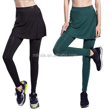 6e55dae1bd Wholesale Custom Cheap Apparel Skirt Legging Full Length Active Yoga Tennis  Skinny Pants with Skirt In