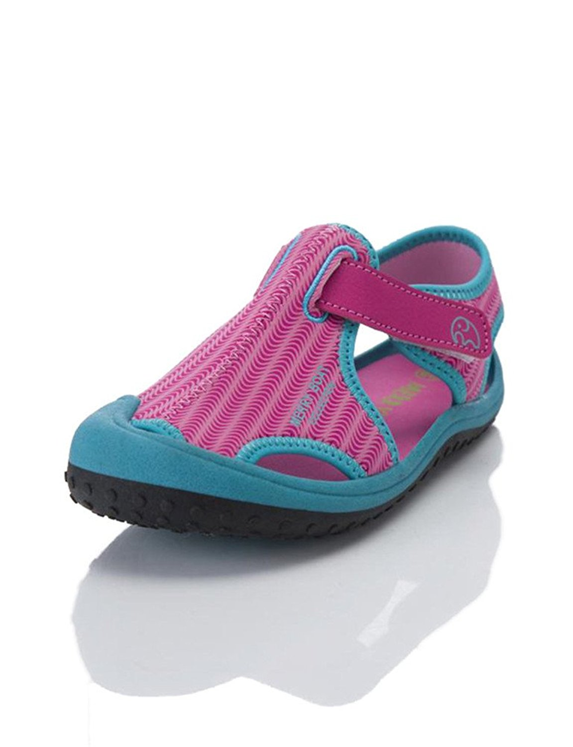 efa4c29a6569f8 HILEELANG Kids Boy Girl Aquatic Water Shoe Closed Toe Light Weight Comfort  Beach Sandals (Toddler
