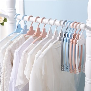 2017new product Multi-functional plastic clothes hanger folding,magic hangers for clothes