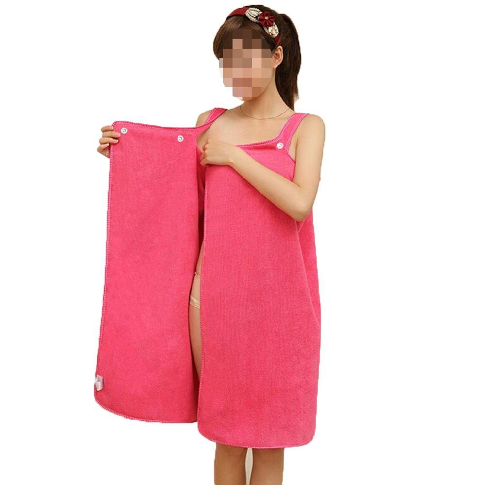 Women's Snap-fastener Bathrobe Superfine Fiber Towel Magic Water Bath towel