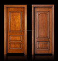 American style oak wooden deep curved interior door design