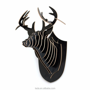 3D Crafts Home Decor Animal Head Decoration