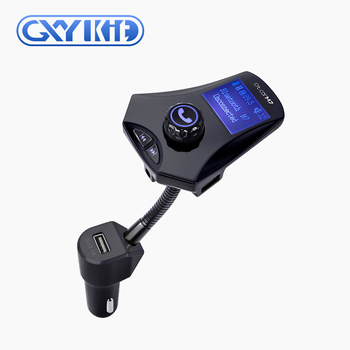 GXYKIT 2018 High Quality Fold Changer Car MP3 Player Bluetooth FM Transmitter with USB Charger LED display