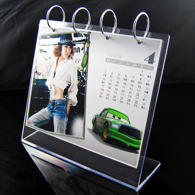 High Quality Acrylic Table Calendar for Showing