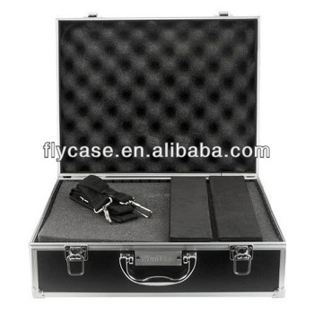 Video camera laptop aluminum case with foam insert and big handle and latch ,digital camera ,electron device  carry case