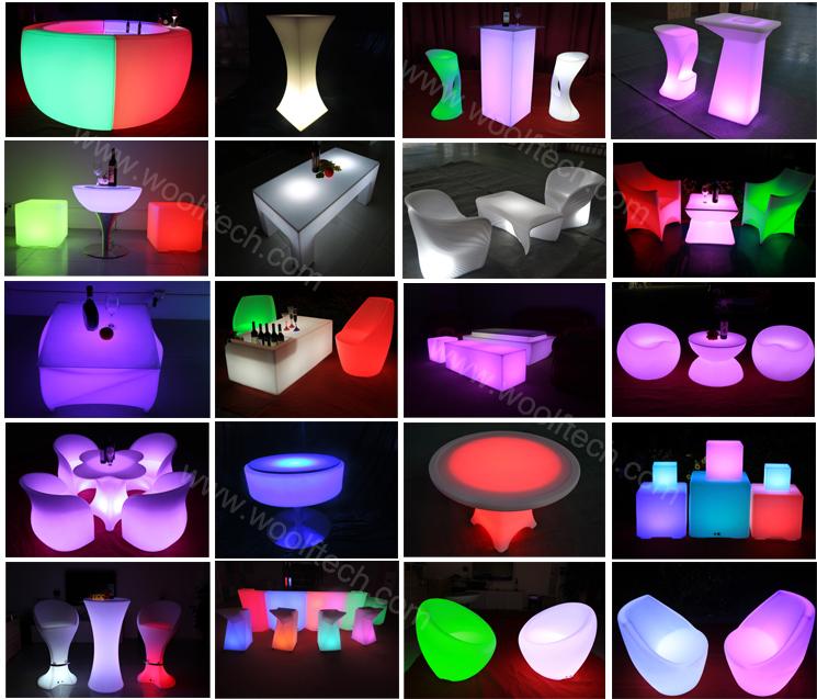 Plastic Waterproof Led Light Up Patio Furniture