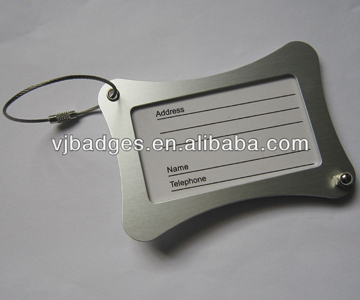 customer luggage name tag with steel wire