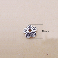 500PCS/pack 10MM Antique Silver Tone Flower Bead Caps for DIY Jewelry Findings Fit Beads Caps Jewelry Accessories Wholesale