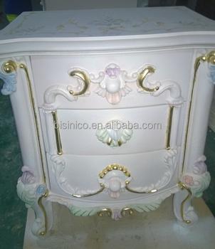 italie style europen classique blanc et or couleur table de chevet table de nuit