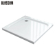 Italian White Black Square Removable Abs Resin Fiberglass Freestanding Tray Cheap Custom Acrylic Shower Base