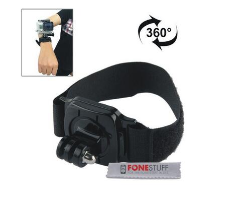 For GoPro 360 Degree Adjustable Wrist Strap Mount for Session HERO 4/3+/3/2/1 for gopro remote