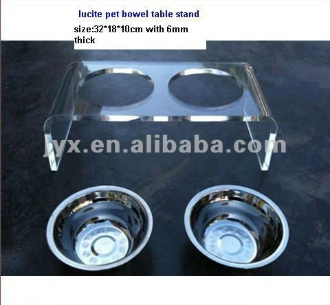Acrylic pet bowel feeder