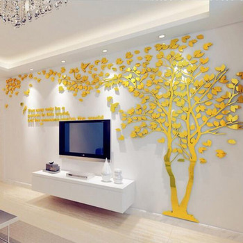 High Quality Tree Shape Acrylic Material 3d Acrylic Wall Panel For ...