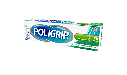 Poligrip Denture Fixative Cream Ultra Mint (40g)