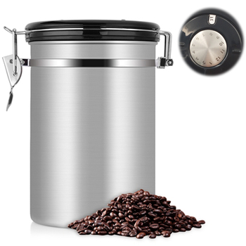 Coffee Can Coffee Container Co2 Large Airtight Stainless Steel Tea Storage Chests Kitchen Storage Metal Coffee Canister Buy Coffee Container
