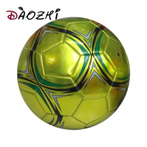 2.5mm PVC foam machine stitched cheap gold soccer colorful futsal ball with brand name