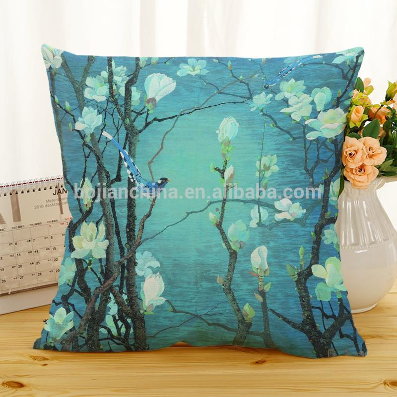 Home decor phnom penh led light up pillow linen cotton printed decorative cushion cover birthday gift