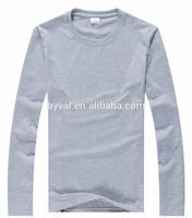 OEM high quality custom no label pure cotton blank man plain long sleeves t shirt