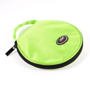 Water & Wood Zip up 20pcs CD Discs Nylon Rounded Bag Storage Container Lime Green for Car with Car Cleaning Clothing