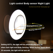 Built-in Rechargeable Lithium Battery Motion Sensor LED Night Light Lamp