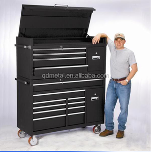 us general tool box parts Heavy Duty72'' power coating tool Cabinet /tool box Combo on wheel