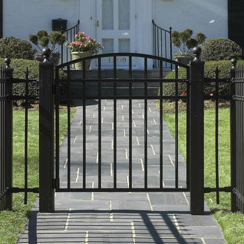 Powder coated metal lowes iron gates with low price