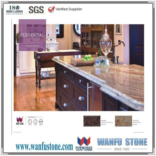 Natural granite Kashmir gold kitchen counter top and vanity top