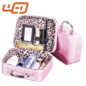 2017 New style Colorful Makeup Pouch with Mirror For Travel Cosmetic Bag
