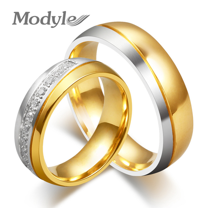 Wedding Rings Fashion CZ Stone Rings For Women And Men