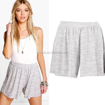 Boxer Shorts Women wholesale blank sweat shorts Loose Pleated Cotton  Knitted Flippy Shorts c77ceb605