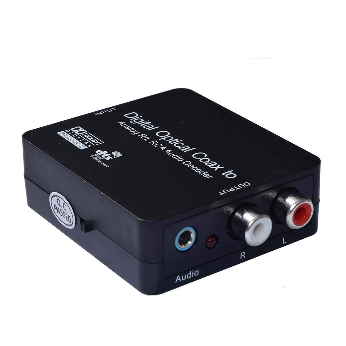 Audio Decoder - SODIAL(R)Digital Optical Coax to Analog R/L RCA Audio Decoder