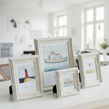 Decorative Handmade Beach Themed Photo Frame White Wood Picture ...