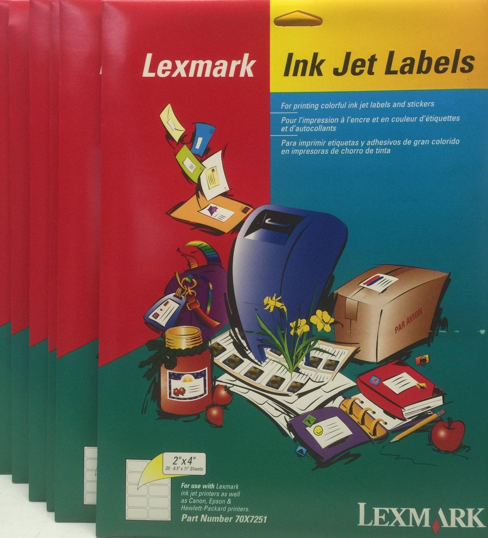 buy avery compatible lexmark 70x7251 2 x 4 ink jet inkjet shipping