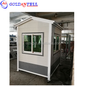 tiny watch house container box sentry modular security booth with restroom