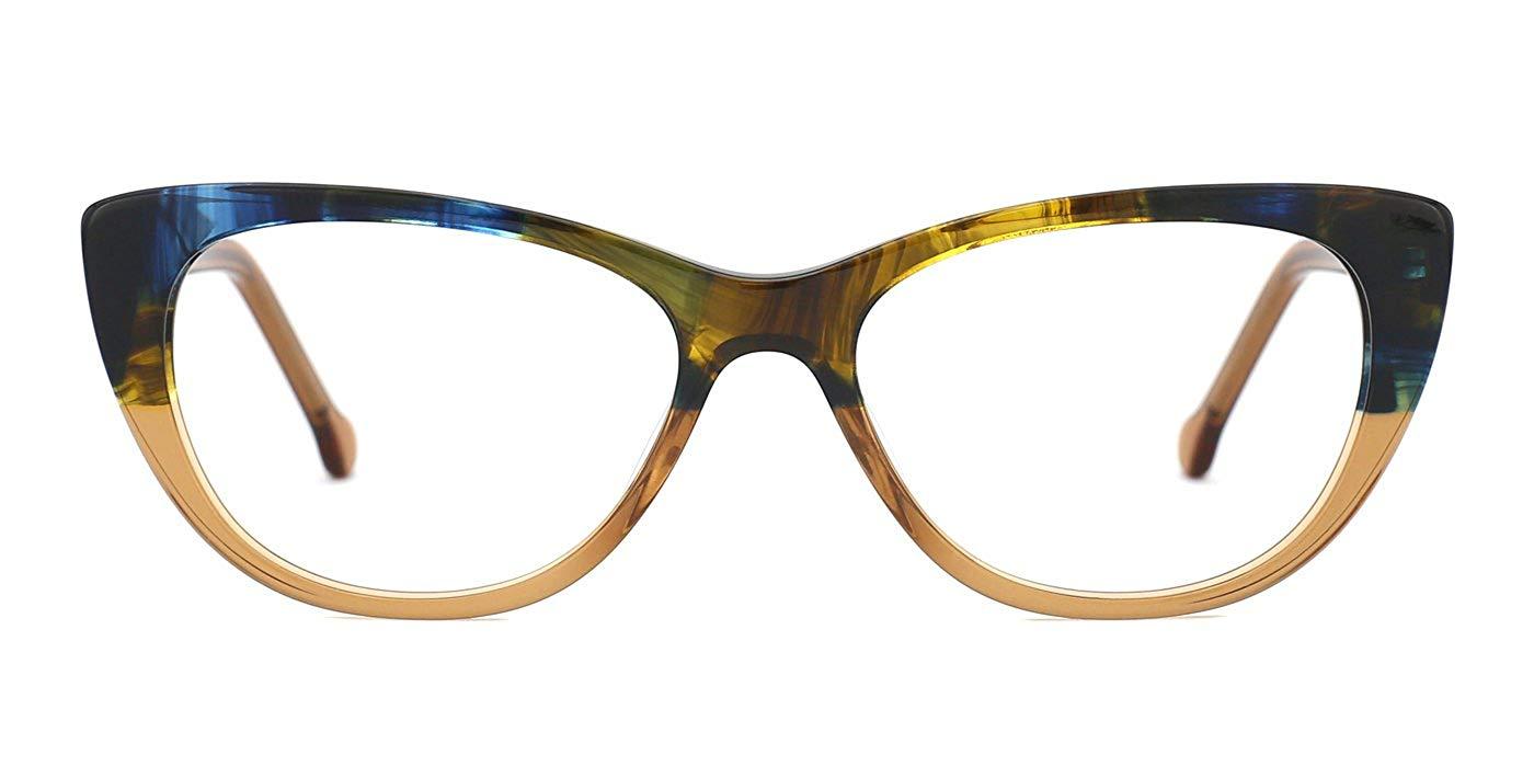 d06441718ab Get Quotations · TIJN Women Cateye Glasses Optical Eyeglasses Frames Clear  Lens