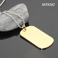 New Arrival Fashion Item Promotional Stainless Steel Gold Plated Pet Name Tag Rectangle Shaped Metal Blank ID Tag Dog