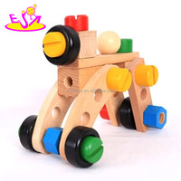 Funny play Wooden Montessori DIY screws toy,Wooden Kids Toy Screw Nut Combination,Wholesale cheap wooden screws toy W03C012