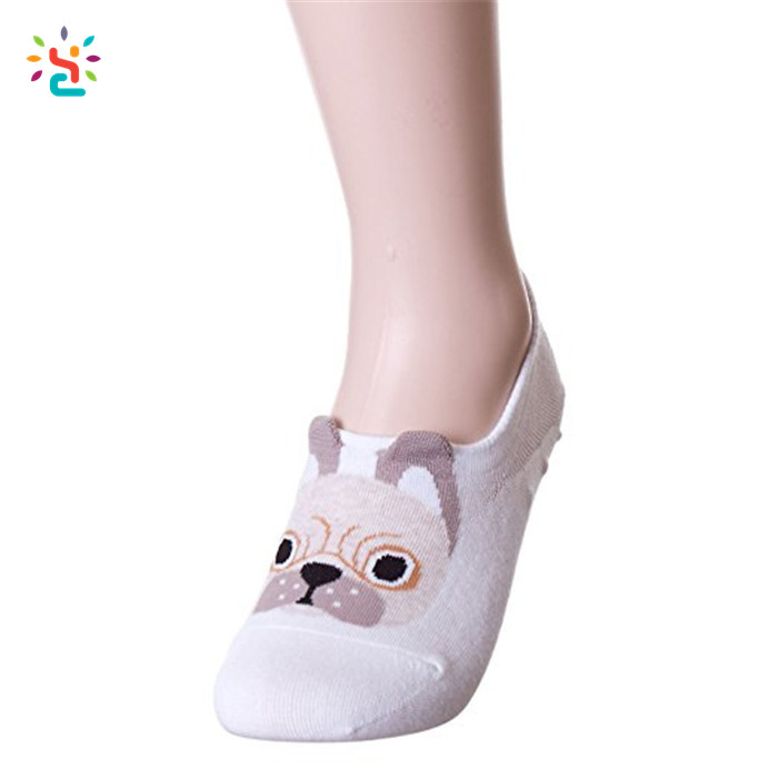 Sock Slippers Underwear & Sleepwears Summer Fall Women Girl Silicone Gel Boat Socks Non-slip Antiskid Cartoon Panda Invisible Socks Slippers Summer Anti-slip Socks Refreshment