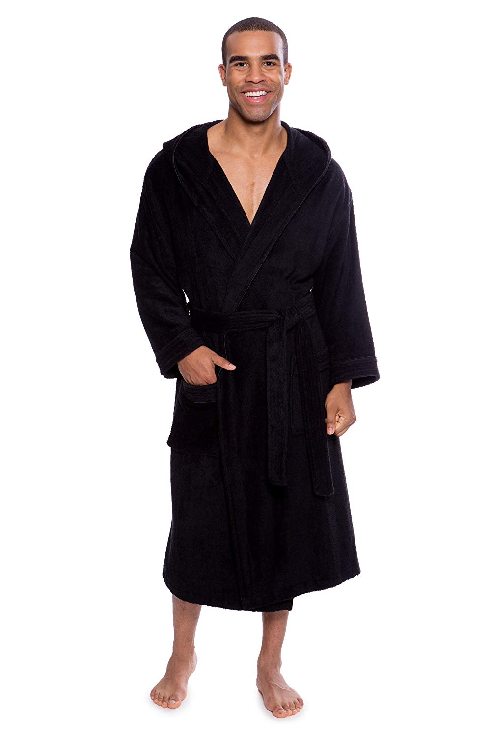 Luxury Bathrobes For Men Women 100% Pure Cotton Hooded Style Terry Towelling Lustrous Clothing, Shoes & Accessories