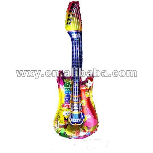 Colorful guitar shaped foil balloons
